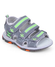 Cute Walk by Babyhug Sandals - Grey Green