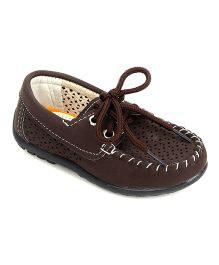 Cute Walk by Babyhug Slip-on Style Loafers - Brown