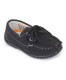 Cute Walk by Babyhug Slip-on Style Loafers - Black