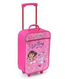 Simba Dora Lets Play Luggage Trolley Pink - 18 Inches