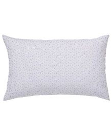 The Baby Atelier Organic Cotton Bows Junior Pillow Cover Without Filler - Purple