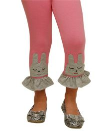 D'chica Cute Patchwork Leggings - Pink