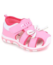 Cute Walk by Babyhug Sandal Bow Design - Pink