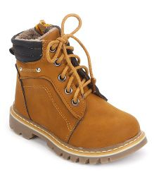 Cute Walk by Babyhug Ankle Length Boots - Brown