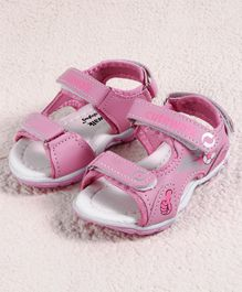 Cute Walk by Babyhug Sandal Football Design - Pink