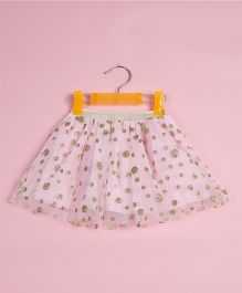 Awabox Polka Dot Print Skirt - Pink