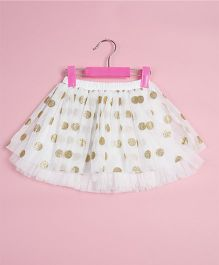 Awabox Polka Dot Print Skirt - White