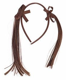 Treasure Trove Pony Tail Hair Band - Brown