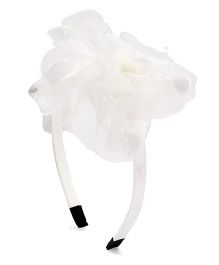 Treasure Trove Floral Hair Band - White
