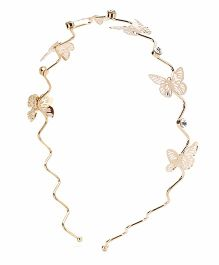Treasure Trove Butterfly Hair Band - Gold