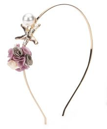 Treasure Trove Flower With Pearl Hair Band - Multicolor