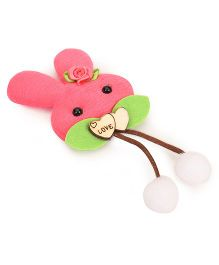 Treasure Trove Cute Bunny Hair Clip - Peach