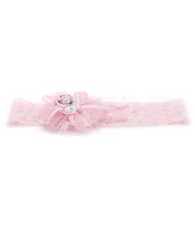 Treasure Trove Stylish Lace Hair Band - Baby Pink