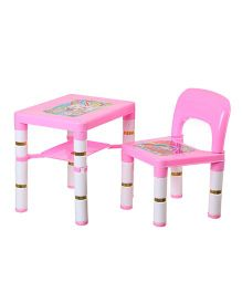 NHR Portable Learning Kids Table & Chair Set - Pink