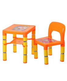 NHR Portable Learning Kids Table & Chair Set - Orange