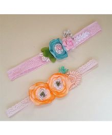 Soulfulsaai Pretty Headbands With Flowers - Pink