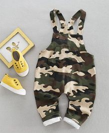 Pre Order - Awabox Camouflage Print Dungaree - Green
