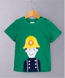 Awabox Cute Boy Print Tee - Green