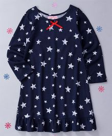 CrayonFlakes Star Design Nighty - Blue