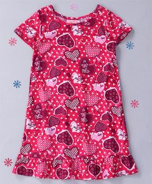 CrayonFlakes Hearted Strawberry Nighty - Magenta