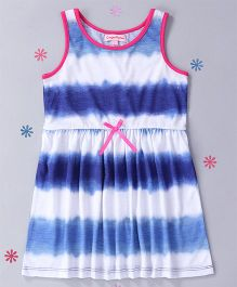 CrayonFlakes Tie Dye Design Dress - Blue