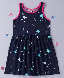 CrayonFlakes Stary Dress - Navy Blue