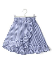 Cubmarks Ruffled High Low Skirt - Blue