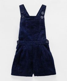 Babyhug Corduroy Dungaree With Pocket - Navy