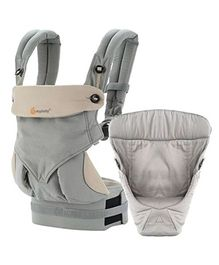 Ergobaby 4 Position 360 Bundle of Joy With Easy Snug Infant Insert - Grey