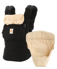 Ergobaby 3 Position Baby Carrier With Easy Snug Infant Insert - Black Cream