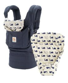 Ergobaby 3 Position Baby Carrier With Easy Snug Infant Insert - Navy