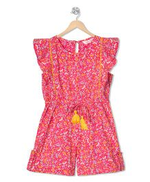 Budding Bees Floral Playsuit - Pink