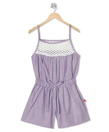 Budding Bees Playsuit - Purple