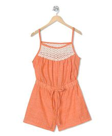 Budding Bees Printed Playsuit - Orange