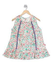 Budding Bees A - Line Dress - Multicolor