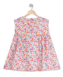 Budding Bees Floral Dress - Multicolor