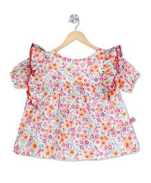 Budding Bees Floral Cute Dress - Multicolor