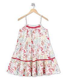 Budding Bees A - Line Dress - Off White