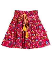 Budding Bees Floral Skirt - Pink