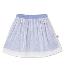 Budding Bees Solid Skirt - Blue