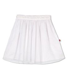 Budding Bees Solid Skirt - White