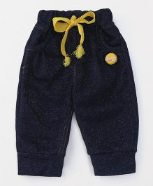 Little Kangaroos Full Length Jogger Jeans With Drawstring - Dark Blue
