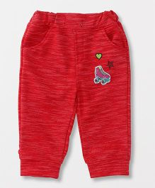 Little Kangaroos Lounge Pants With Pockets - Red