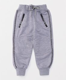 Little Kangaroos Full Length Lounge Pants With Drawstring - Grey