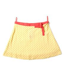 Tiddlywings Polka Dot Skirt With Belt - Yellow
