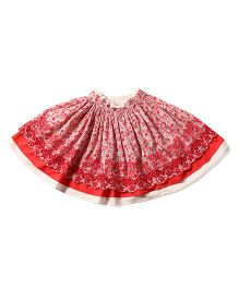 Tiddlywings Floral Print Skirt - Red