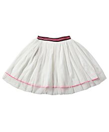 Tiddlywings Double Layer Skirt - White