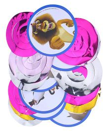 Madagascar Round Cutout Dangling Swirls - 6 Pieces