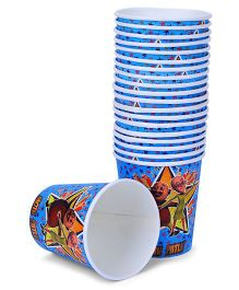 Motu Patlu Paper Cups Blue - Pack Of 20