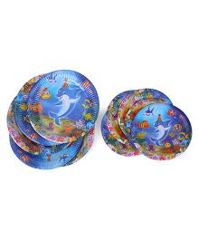 Themez Only Paper Snack Plates Blue - Pack Of 20